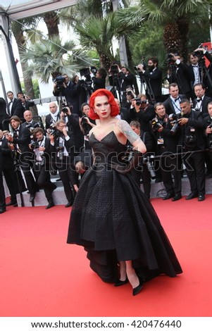 Miss Fame attends 'The BFG' premier during the 69th Annual Cannes Film Festival on May 14, 2016 in Cannes. - stock photo
