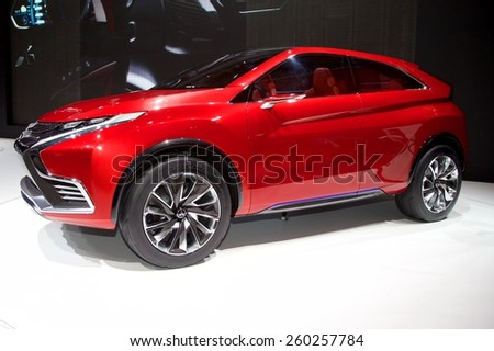 2015 Mitsubishi XR-PHEV II Concept presented the 85th International Geneva Motor Show on March 3, 2015 in Palexpo, Geneva, Switzerland