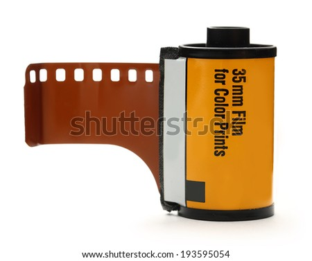 35mm film for color prints - stock photo