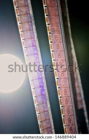 16mm Film Leader/Countdown - stock photo
