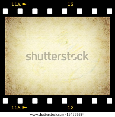 35 mm film strip background, texture - stock photo