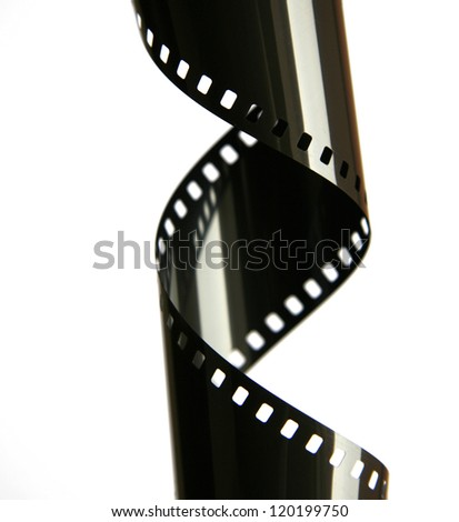 35 mm Film Stripe with reflection / shiny - stock photo