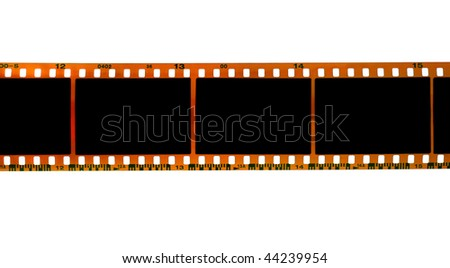 35mm filmstrip isolated on white background - stock photo
