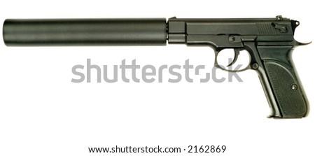 9 mm gun - stock photo