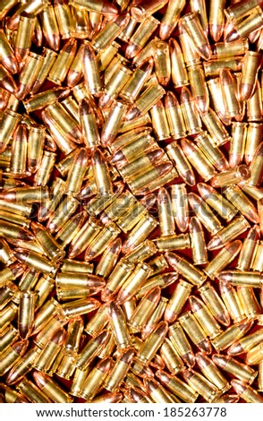 9mm Handgun ammo  - stock photo