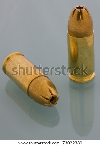 9 mm luger cartridges with hollowpoint bullets