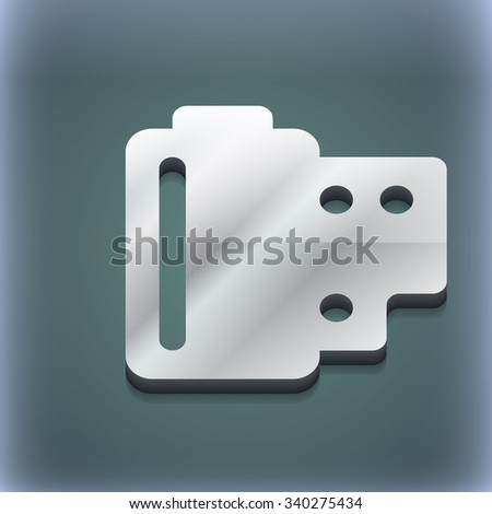 35 mm negative films icon symbol. 3D style. Trendy, modern design with space for your text illustration. Raster version - stock photo