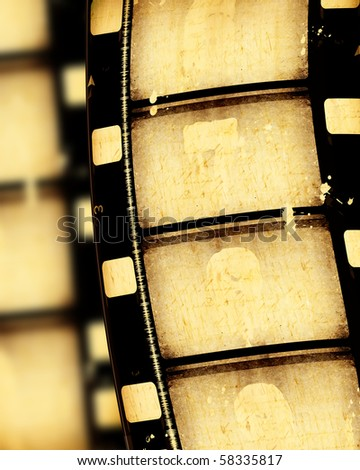 16 mm old  Film roll,Digital art - stock photo