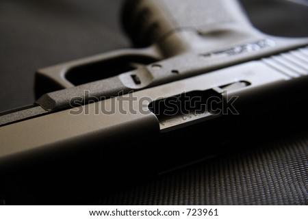9mm pistol - stock photo