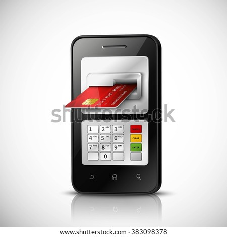 Mobile Banking Concept  - stock photo