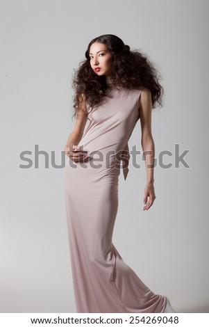 model posing in  the studio - stock photo
