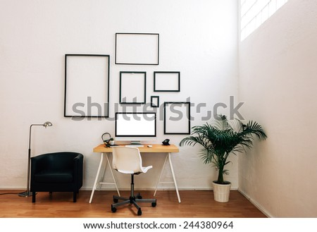 Modern creative workspace.  - stock photo