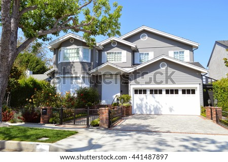 Landscaped Homes california homes stock images, royalty-free images & vectors
