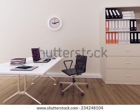 Modern interior office - stock photo