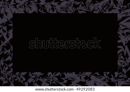 modern picture frame with black background