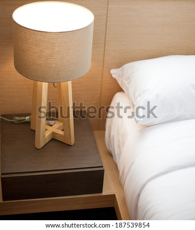modern style bedroom - stock photo