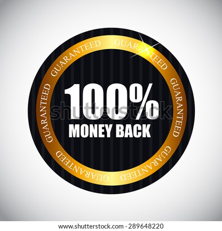 100 % Money Back Golden Label  Illustration