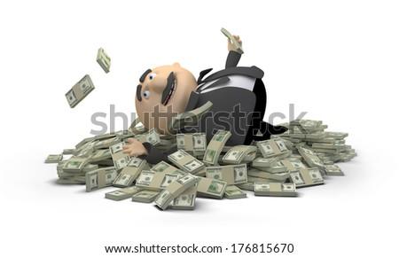 Money Bath - stock photo