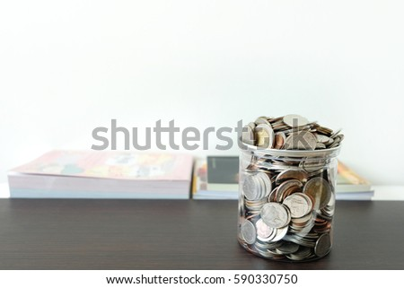 Money in the jar finances, The concept of saving money in order to cover future educational background.