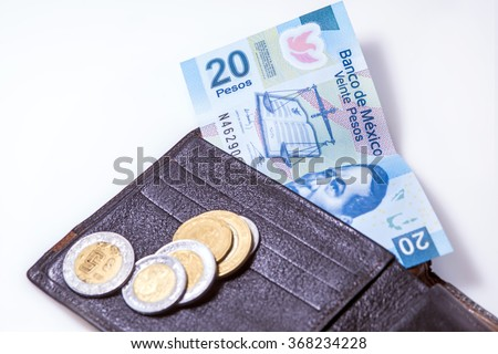 money of Mexico - stock photo