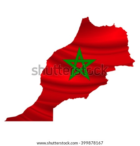 Morocco?Flag map icon