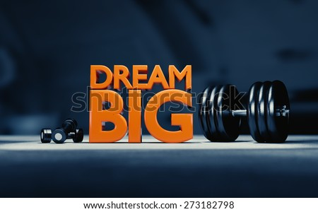 Motivational poster for weight lifting. - stock photo