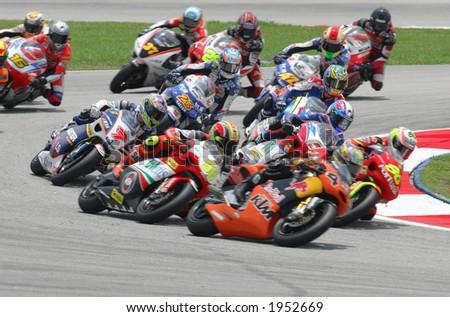 2006 MotoGP Sepang F1 International Circuit Malaysia - 250cc race in action. - stock photo