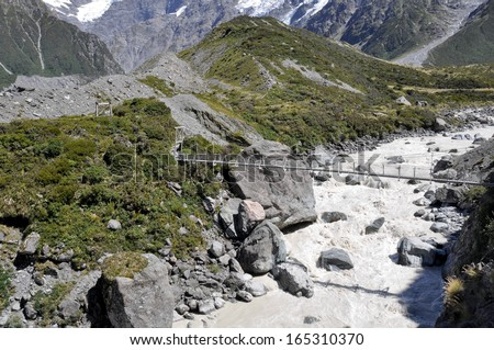 Mount Cook national park, New Zealand  - stock photo