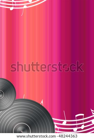Music Background with Space for Text - stock photo