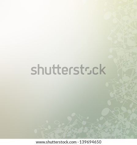 music note background - stock photo