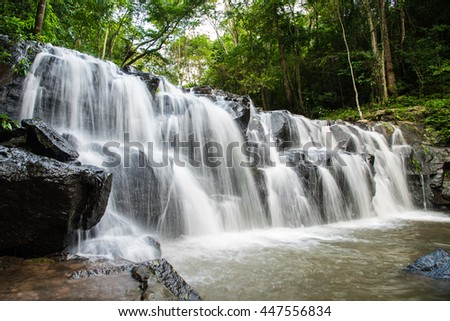 """Namtok' Sam Lan National Park""  is a beautiful waterfall in ""Saraburi"" , Thailand."