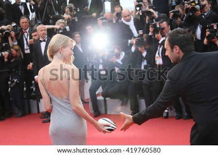 Naomi Watts attends the 'Money Monster' Premiere during the 69th annual Cannes Film Festival on May 12, 2016 in Cannes, France. - stock photo