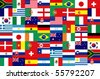 32 National flag football world 2010 Pattern - stock photo