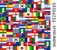 32 National flag pattern. - stock photo