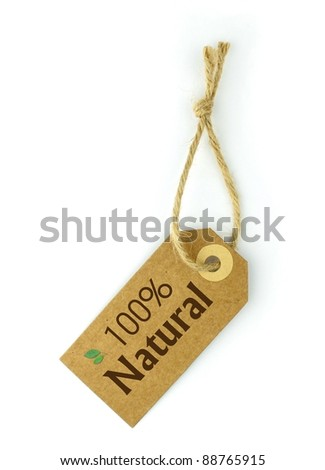 100% Natural Label - stock photo