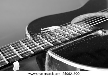 2nd hand classical guitar. - stock photo