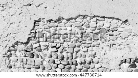 near   house and block building abstract background in oman the old wall