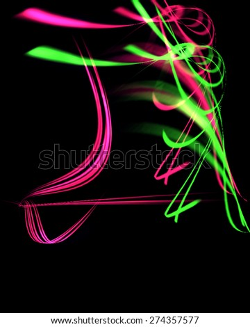 Image Gallery neon pink green #0: stock photo neon pink green lines on black background