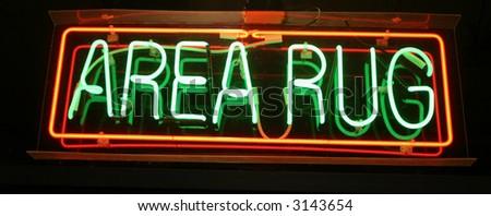 """neon sign series"" ""area rug"" - stock photo"