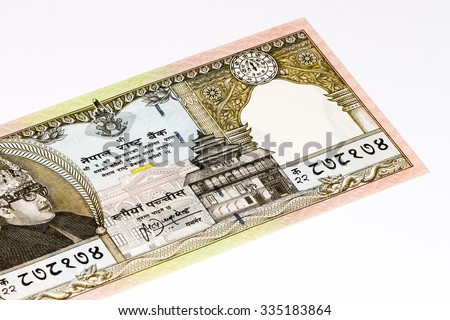 50 Nepalese rupee bank note. Nepalese rupee is the national currency of Nepal
