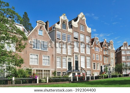Netherlands.  Amsterdam architecture in a sunny summer day