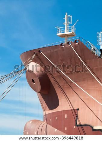 new boat in the shipyard - stock photo