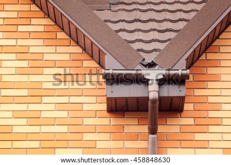Soffit stock images royalty free images vectors for Roof drainage system