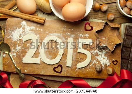 2015 new year  - stock photo