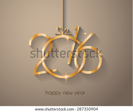 2016 New Year and Happy Christmas background for your flyers, invitation, party posters, greetings card, brochure cover or generic banners. - stock photo