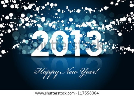 2013 - New year background - stock photo