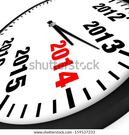 2014 New Year clock
