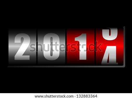2014 New Year counter