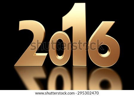 2016 new year 3d rendered image - stock photo