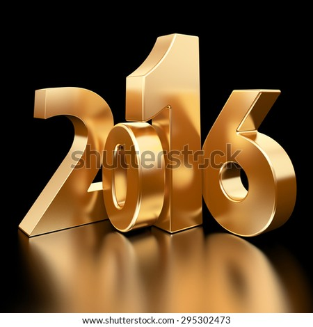 2016 new year 3d rendered image